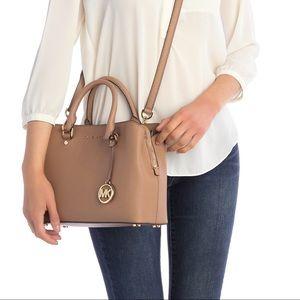 Michael Kors Savannah Leather Satchel Handbag